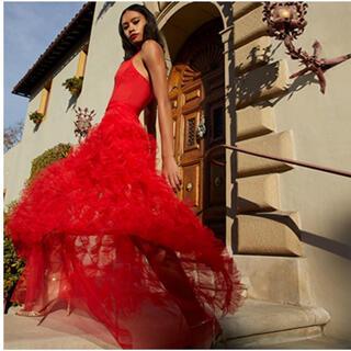 ビーシービージーマックスアズリア(BCBGMAXAZRIA)の❤️BCBGMAXAZRIA 2020新作新品 赤パーティードレス 結婚式(ロングドレス)