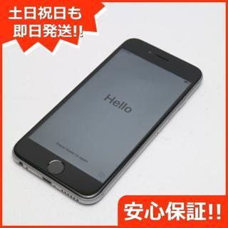 アイフォーン(iPhone)の美品 au iPhone6S 16GB スペースグレイ 白ロム(スマートフォン本体)