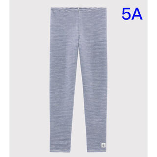 プチバトー(PETIT BATEAU)の新品未使用 プチバトー ウール&コットン カルソン 5ans(パンツ/スパッツ)