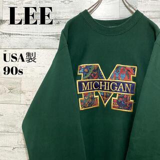 リー(Lee)の【激レア】LEE リー☆USA製 刺繍ビッグロゴ ミシガン スウェット 90s(スウェット)
