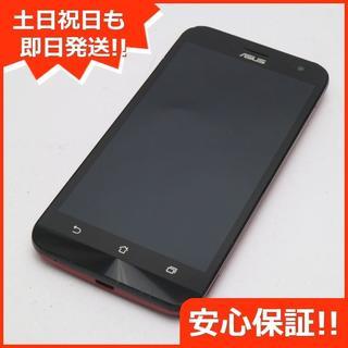 エイスース(ASUS)の良品中古 SIMフリー ZenFone2 Laser ZE500KL レッド (スマートフォン本体)