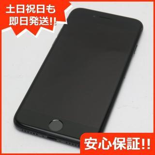 アイフォーン(iPhone)の美品 DoCoMo iPhone7 128GB ブラック (スマートフォン本体)