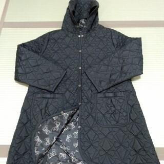 &LOVE 黒ブラックキルティングフード付きコート(ロングコート)
