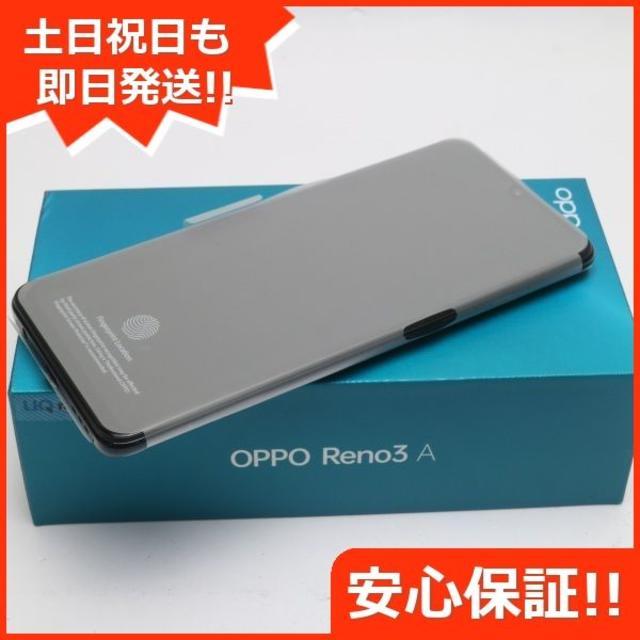 ANDROID(アンドロイド)の新品 UQmobile OPPO Reno3 A ブラック  スマホ/家電/カメラのスマートフォン/携帯電話(スマートフォン本体)の商品写真