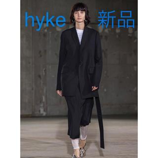 ハイク(HYKE)の新品 HYKE ハイク アシンメトリー プリーツスカート ブラック(ロングスカート)
