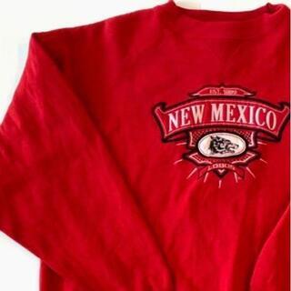 ミッドウエスト(MIDWEST)のミッドウエスト ニューメキシコ 刺繍ロゴ スウェット トレーナー レッド L赤(スウェット)