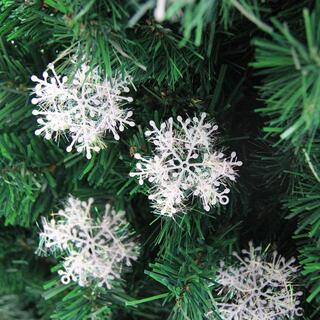 クリスマス飾り 雪の華 雪の結晶 ツリー 飾り 装飾 オーナメント 9個セット(その他)