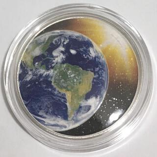 米国 太陽系シリーズ(4) 地球 ドーム型1オンス銀貨プルーフ(貨幣)