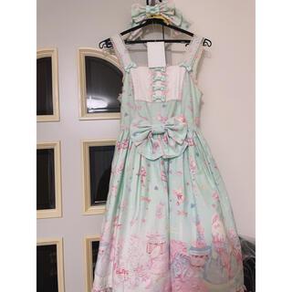 アンジェリックプリティー(Angelic Pretty)のドリーミィドールハウス切替ジャンパースカート&カチューシャ(ミニスカート)