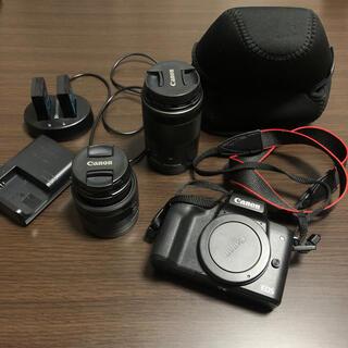 Canon - EOS Kiss Mミラーレス一眼カメラ ブラック