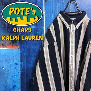 Ralph Lauren - 【チャップスラルフローレン】ロゴタグスーパービッグマルチストライプシャツ 90s