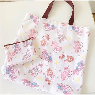 日本未発売 ダッフィーフレンズ エコバッグ お買い物袋 収納袋付き おやすみ顔