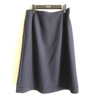 ルネ(René)のルネ Lサイズ未使用ウォッシャブル ネイビースカート(ひざ丈スカート)