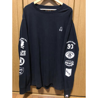 A BATHING APE - アベイシングエイプ ロンT 長袖Tシャツ サイドロゴ アームロゴ 袖ロゴ
