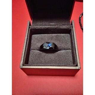 サファイアリング ブラックダイヤモンドブレスレット メンズ AIGS鑑別書(リング(指輪))