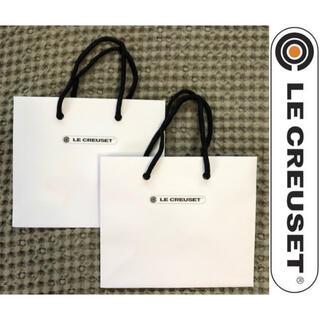 ルクルーゼ(LE CREUSET)のル•クルーゼ 紙袋 ギフト LE CREUSET ショッパー袋 ラッピング 包装(ショップ袋)