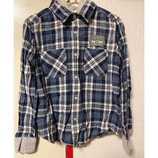 フェリシモ(FELISSIMO)の青 150 フェリシモ カットソー パーカー(Tシャツ/カットソー)