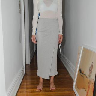 エディットフォールル(EDIT.FOR LULU)のBaserange Brig Skirt – Fleece Rib(ロングスカート)