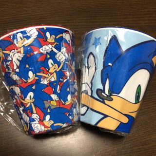 セガ(SEGA)のレア 新品 ソニック グラス メラミンコップ SEGA セガ 割れないカップ(食器)