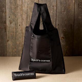 タリーズコーヒー(TULLY'S COFFEE)の【新品】タリーズ タリーズ コーヒー TULLY'S エコバッグ ブラック 黒(エコバッグ)