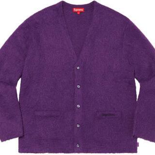 シュプリーム(Supreme)のsupreme mohair cardigan purple Mサイズ モヘア(カーディガン)