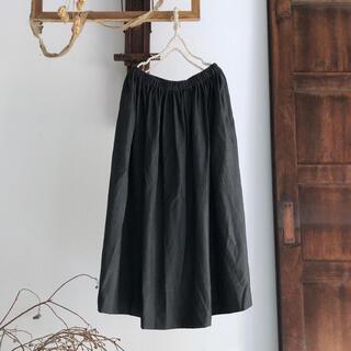 ミナペルホネン(mina perhonen)のhumoresque ユーモレスク wool gather skirt S(ロングスカート)