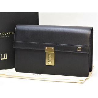 ダンヒル(Dunhill)のダンヒル セカンドバッグ イタリア製 黒 ブラック DUNHILL(セカンドバッグ/クラッチバッグ)
