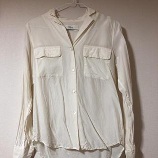 プラージュ(Plage)のプラージュ シルク長袖白シャツ(シャツ/ブラウス(長袖/七分))