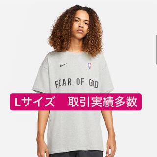 ナイキ(NIKE)のNike fear of god tシャツ ナイキ グレー Lサイズ(Tシャツ/カットソー(半袖/袖なし))