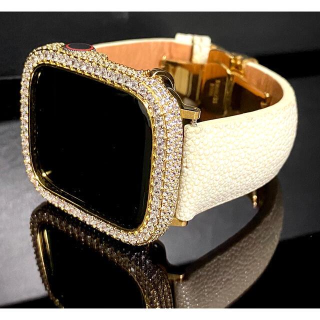 アップルウォッチ用カスタム スティングレイオフホワイトセット メンズの時計(腕時計(デジタル))の商品写真