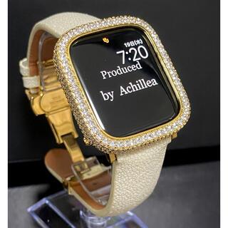 アップルウォッチ用カスタム スティングレイオフホワイトセット(腕時計(デジタル))