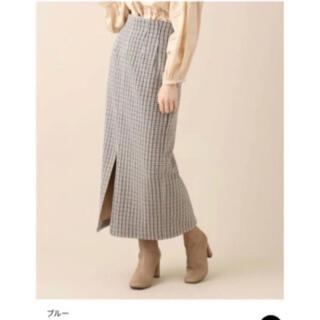 デイシー(deicy)のDEICY ME COUTURE チェックウールタイトスカート ブルー サイズ1(ロングスカート)
