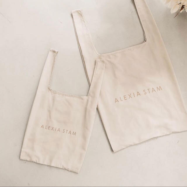 ALEXIA STAM(アリシアスタン)のアリシアスタン エコバッグ 2点セット(S・M) レディースのバッグ(エコバッグ)の商品写真