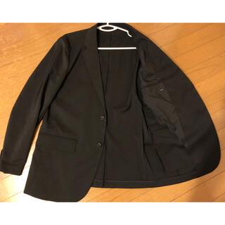 ユニクロ(UNIQLO)のユニクロ 感動ジャケット ブラック L スリムフィット(テーラードジャケット)