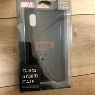 マーベル(MARVEL)のマーベル グラスハイブリッドケース iPhone XS/X用 5.8inch(iPhoneケース)