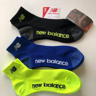 ニューバランス(New Balance)の頑丈 newbalance 25〜27cm 3足 メンズソックス(ソックス)