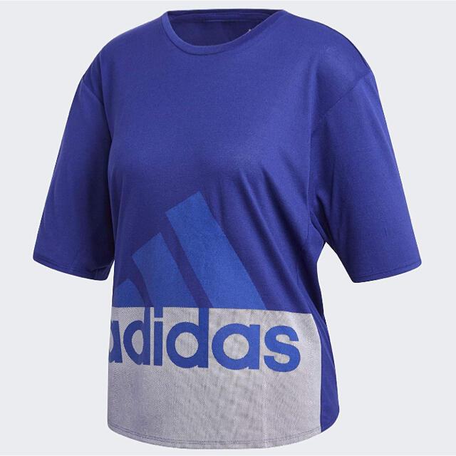 adidas(アディダス)のadidas ブルー Tシャツ メンズのトップス(Tシャツ/カットソー(半袖/袖なし))の商品写真