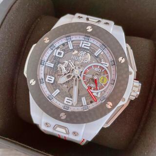 ウブロ(HUBLOT)のビッグバン フェラーリ カーボン ホワイトセラミック 世界限定500本(腕時計(デジタル))