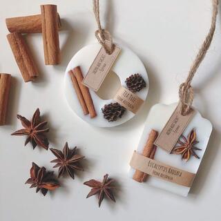 香りが選べるアロマワックスサシェ2点セット*natural brown(アロマ/キャンドル)