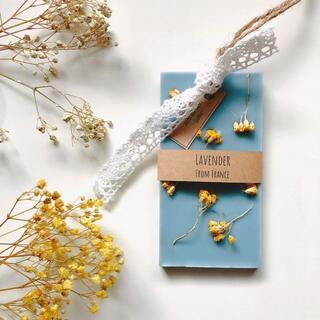 【のままい様】香りが選べるアロマワックスサシェ*アキレア×くすみブルー(アロマ/キャンドル)
