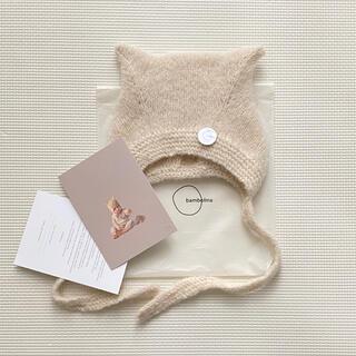 キャラメルベビー&チャイルド(Caramel baby&child )のbambolina Kitty bonnet  アイボリー 12-18M(帽子)