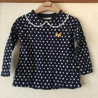 ベルメゾン(ベルメゾン)の水玉長袖Tシャツsize100(Tシャツ/カットソー)