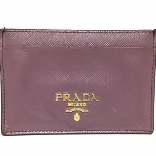 プラダ(PRADA)のプラダ カードケース - ピンクベージュ(名刺入れ/定期入れ)