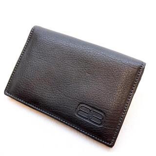 バレンシアガ(Balenciaga)のBALENCIAGA バレンシアガ 名刺入れ カードケース ブラック 美品(名刺入れ/定期入れ)