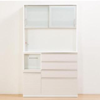 ニトリ(ニトリ)の美品ニトリ キッチンボード Nポスティア120KB WH 現行品食器棚カップ(キッチン収納)