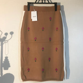 dazzlin - dazzlin 【新品未使用】ダズリン リトルフラワージャカードニットスカート