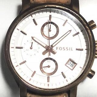 フォッシル(FOSSIL)のフォッシル 腕時計 - ES3748 レディース 白(腕時計)