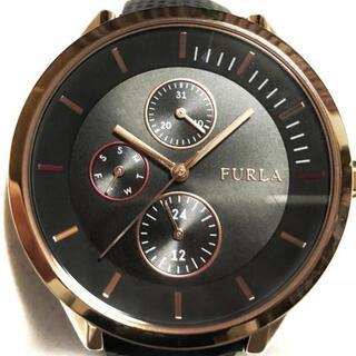 フルラ(Furla)のFURLA(フルラ) 腕時計 - レディース 黒(腕時計)
