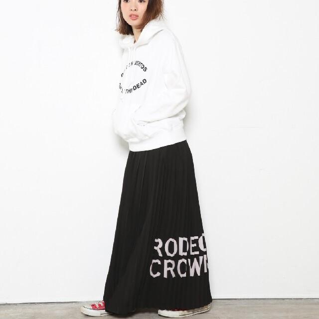 RODEO CROWNS(ロデオクラウンズ)のRODEO CROWNS  プリーツ ロング マキシ スカート 黒 レディースのスカート(ロングスカート)の商品写真