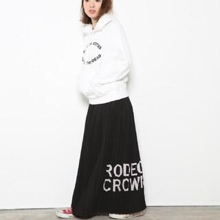 ロデオクラウンズ(RODEO CROWNS)のRODEO CROWNS  プリーツ ロング マキシ スカート 黒(ロングスカート)